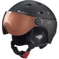 Cairn Stellar, ski helmet with Visor, Mat Black