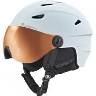 Cairn Electron Photochromic, ski helmet with Visor, Mat White