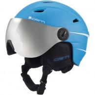 Cairn Electron, junior ski helmet with visor, mat azure