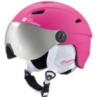 Cairn Electron, junior ski helmet with visor, mat fuchsia