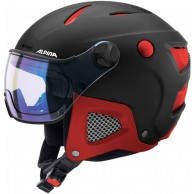 Alpina Attelas Visor VHM, helmet with visor, black/red