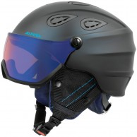 Alpina Grap Visor HM, ski helmet with Visor, dark blue