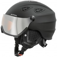 Alpina Grap Visor HM, ski helmet with Visor, matt black