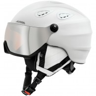 Alpina Grap Visor HM, ski helmet with Visor, matt white