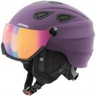 Alpina Grap Visor HM, ski helmet with Visor, violet