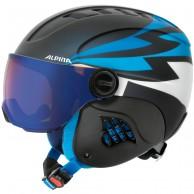 Alpina Carat LE, junior ski helmet with visor, dark blue