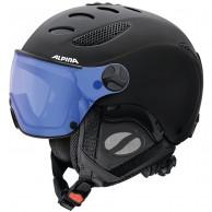 Alpina Jump JV Varioflex ski helmet with Visor, black