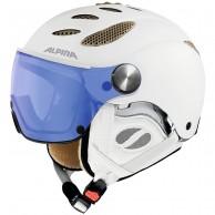 Alpina Jump JV Varioflex ski helmet with Visor, white