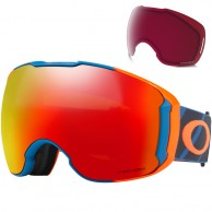 Oakley Airbrake XL, Hazard Bar Blue