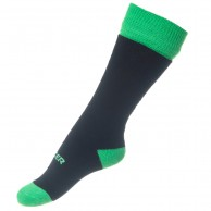 Seger Solid, ski socks for kids, Black/neon