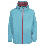 Trespass Qikpac unisex rainjacket, light blue