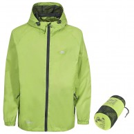 Trespass Qikpac unisex rainjacket, green