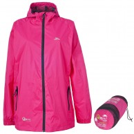 Trespass Qikpac unisex rainjacket, pink