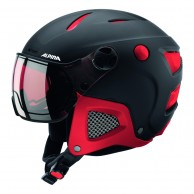 Alpina Attelas Visor QVM, helmet with visor, black/red