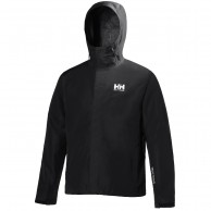 Helly Hansen Seven J, mens Rain jacket, black