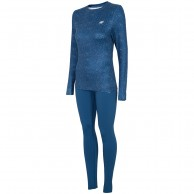 4F Cooldry ski underwear, women, suit, navy