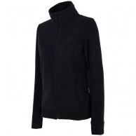 4F womens fleece jacket, black