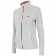 4F womens fleece jacket, light grey