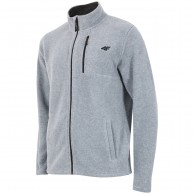 4F mens fleece jacket, light grey