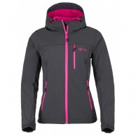 Kilpi Elia, womens soft shell jacket, grey/pink