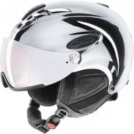Uvex hlmt 300 helmet with visor, chrome silver