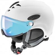 Uvex hlmt 300 Vario, ski helmet with Visor, white