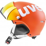 Uvex hlmt 500 helmet with visor, orange