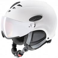 Uvex hlmt 300 ski helmet with Visor, white mat