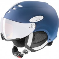 Uvex hlmt 300 ski helmet with Visor, navy blue
