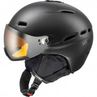 Uvex hlmt 200 helmet with visor, black