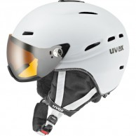 Uvex hlmt 200 helmet with visor, white