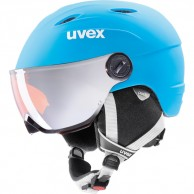 Uvex junior pro, helmet with visor, blue mat