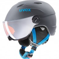 Uvex junior pro, helmet with visor, titanium blue