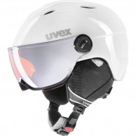 Uvex junior pro, helmet with visor, white/grey