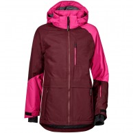 Didriksons Kaya Girls Junior Ski Jacket, Old Rust