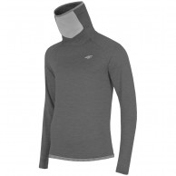 4F Microtherm fleecepulli w/ high neck, dark grey
