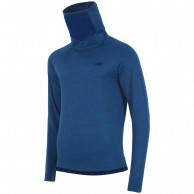 4F Microtherm fleecepulli w/ high neck, navy