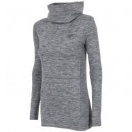 4F skiunderwear w/ high neck, women, salt & pepper