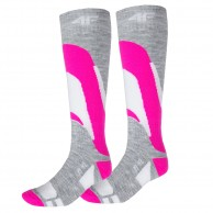 4F 2 pair Cheap Ski Socks, womens, pink
