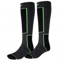 4F 2 pair Cheap Ski Socks, dark grey