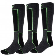 4F 3 pair Cheap Ski Socks, dark grey