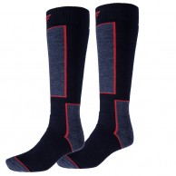 4F 2 pair Cheap Ski Socks, dark navy