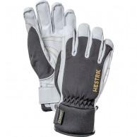 Hestra Army Leather Gore-tex ski gloves, black/white