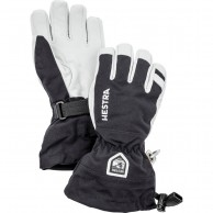 Hestra Army Leather Heli ski gloves, jr, black