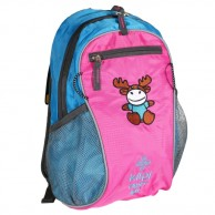 Kilpi First, children's backpack, light blue/pink