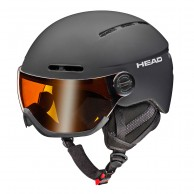 HEAD Knight visor ski helmet, black