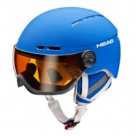 HEAD Knight ski helmet, with Visor, blue