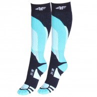 4F 2 pair Cheap Ski Socks, navy