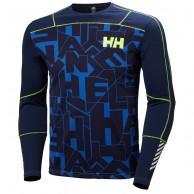 Helly Hansen Lifa Active Graphite Crew, mens, blå
