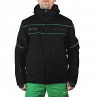 DIEL Alfred mens ski jacket, black/green